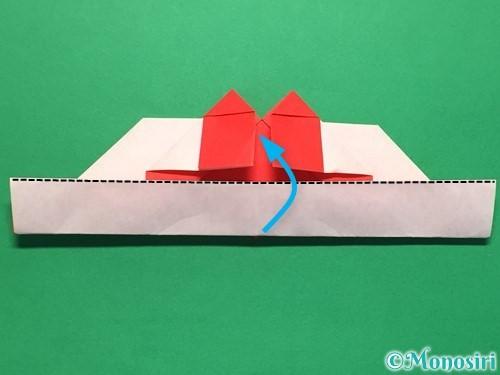 折り紙でハートの指輪の折り方手順27
