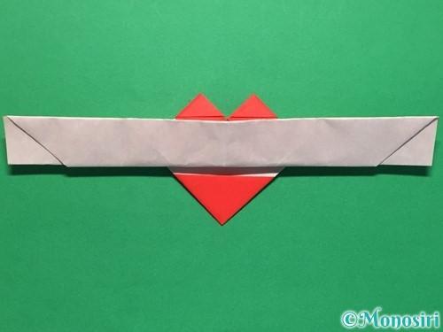 折り紙でハートの指輪の折り方手順28