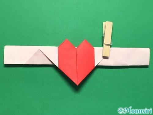 折り紙でハートの指輪の折り方手順29