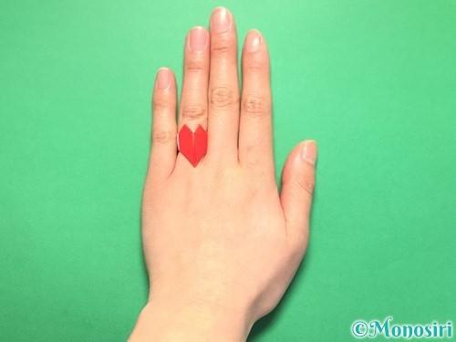 折り紙でハートの指輪の折り方手順31