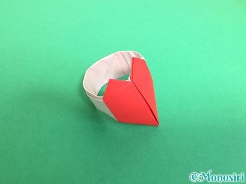 折り紙でハートの指輪の折り方手順30
