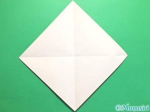 折り紙で簡単なハートの折り方手順2