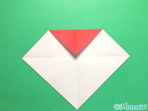 折り紙で簡単なハートの折り方手順4
