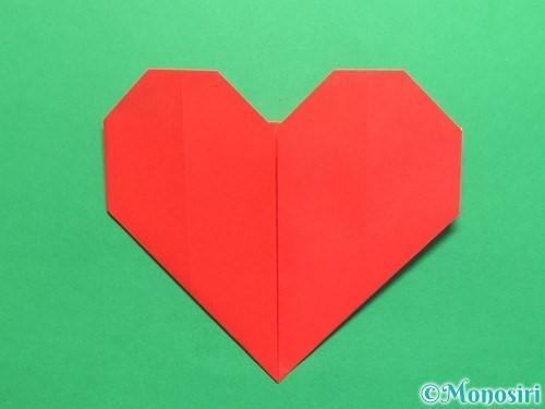 折り紙で簡単なハートの折り方手順10