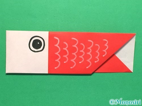 折り紙で簡単な鯉のぼりの折り方手順18