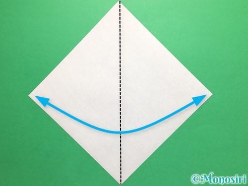 折り紙で簡単なカブトの折り方手順1