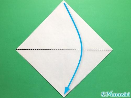折り紙で簡単なカブトの折り方手順3