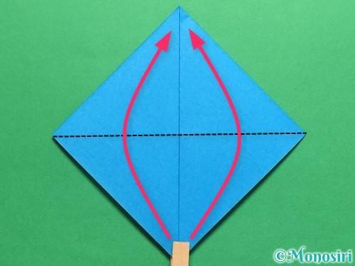 折り紙で簡単なカブトの折り方手順7