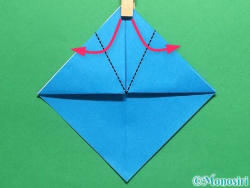 折り紙で簡単なカブトの折り方手順9