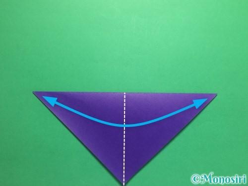 折り紙でかっこいい兜の折り方手順3