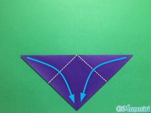 折り紙でかっこいい兜の折り方手順5