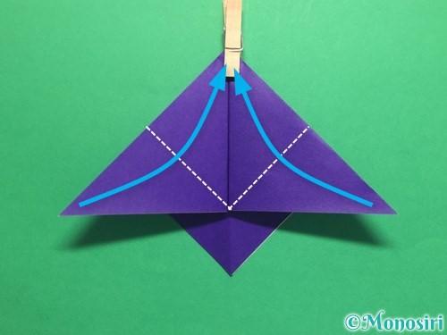 折り紙でかっこいい兜の折り方手順13