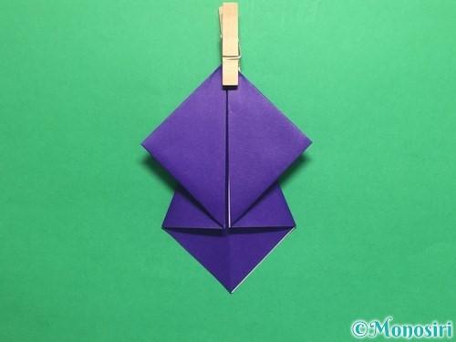 折り紙でかっこいい兜の折り方手順14
