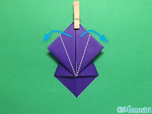 折り紙でかっこいい兜の折り方手順15