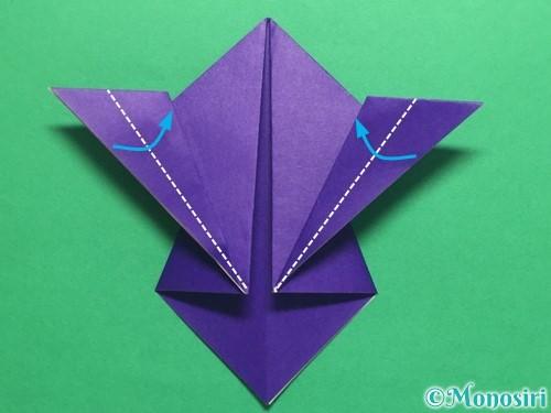 折り紙でかっこいい兜の折り方手順17