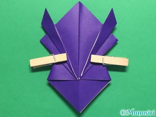 折り紙でかっこいい兜の折り方手順18