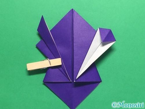 折り紙でかっこいい兜の折り方手順22
