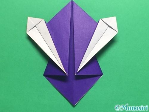 折り紙でかっこいい兜の折り方手順25