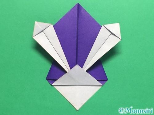 折り紙でかっこいい兜の折り方手順27
