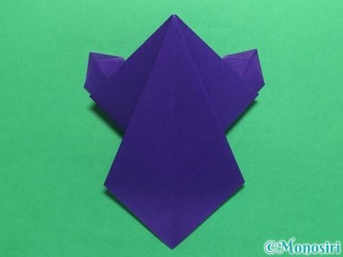 折り紙でかっこいい兜の折り方手順30