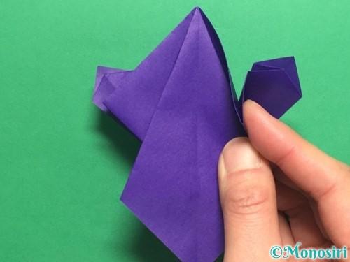 折り紙でかっこいい兜の折り方手順31