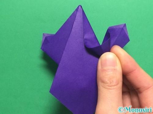 折り紙でかっこいい兜の折り方手順32