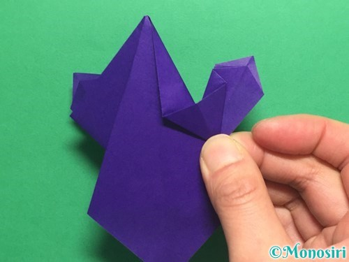 折り紙でかっこいい兜の折り方手順33