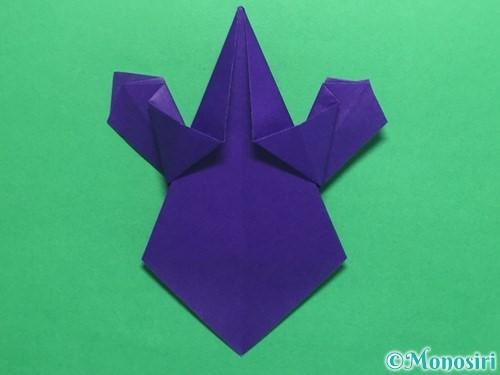 折り紙でかっこいい兜の折り方手順34