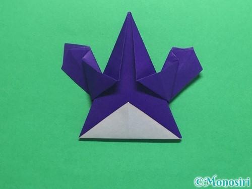 折り紙でかっこいい兜の折り方手順36
