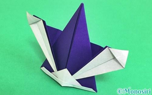 折り紙で折ったかっこいい兜