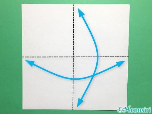 折り紙でかっこいい兜の折り方手順1