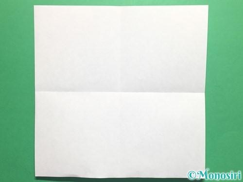 折り紙でかっこいい兜の折り方手順2