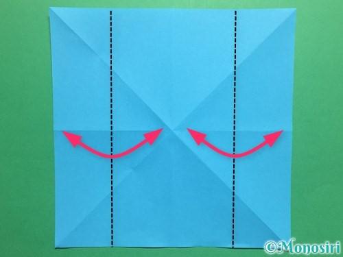 折り紙でかっこいい兜の折り方手順6