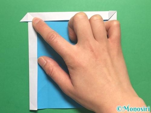 折り紙でかっこいい兜の折り方手順16