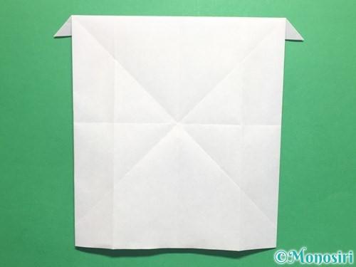 折り紙でかっこいい兜の折り方手順19