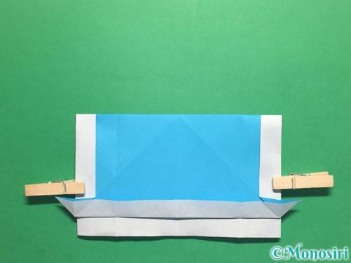 折り紙でかっこいい兜の折り方手順21