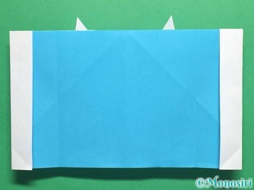 折り紙でかっこいい兜の折り方手順26