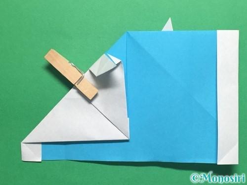 折り紙でかっこいい兜の折り方手順28