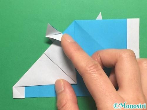 折り紙でかっこいい兜の折り方手順29