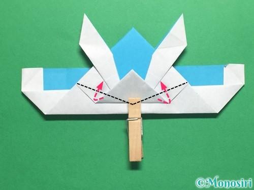 折り紙でかっこいい兜の折り方手順37