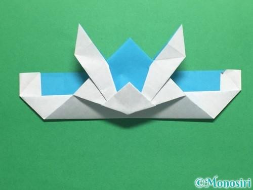 折り紙でかっこいい兜の折り方手順38