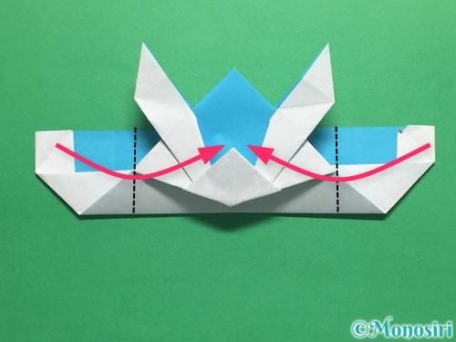 折り紙でかっこいい兜の折り方手順39