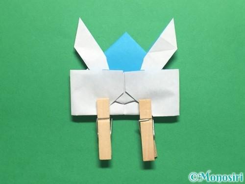 折り紙でかっこいい兜の折り方手順40