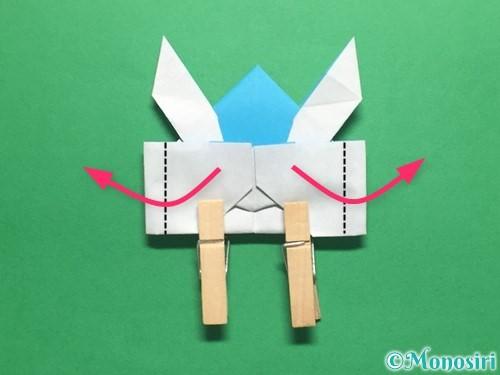 折り紙でかっこいい兜の折り方手順41