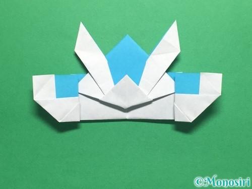 折り紙でかっこいい兜の折り方手順42