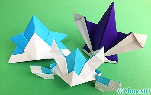 折り紙で折ったカブト