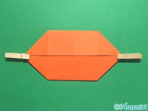 折り紙で風車の折り方手順10
