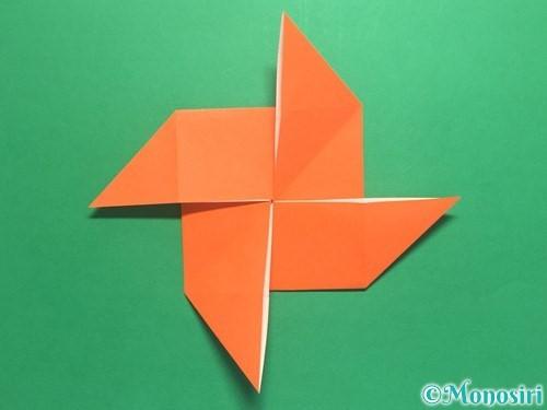 折り紙で風車の折り方手順12