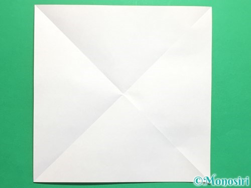 折り紙でクルクル回る風車の作り方手順2