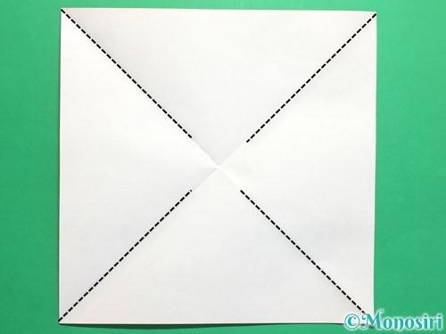 折り紙でクルクル回る風車の作り方手順3